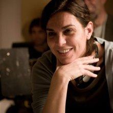 La regista Francesca Comencini sul set del film Lo spazio bianco