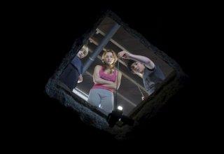 Nathan Gamble, Haley Bennett e Chris Massoglia e in una scena del film The Hole in 3D