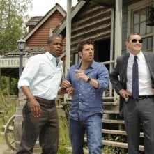 Timothy Omundson, James Roday e Dulé Hill in una scena dell'episodio High Noon-ish di Psych