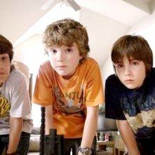 Trevor Gagnon, Leo Howard e Rebel Rodriguez in una scena del film Il mistero della pietra magica