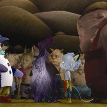 Una scena del film d'animazione Yona Yona Penguin