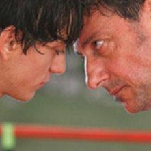 Gabriele Campanelli con Sergio Castellitto nel film Alza la testa