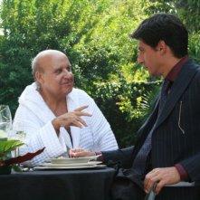Luis Molteni ed Emilio Solfrizzi in una scena del film Piede di Dio