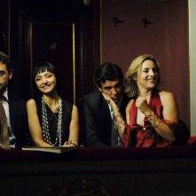 Massimo Poggio, Maria De Medeiros, Alessandro Gassman e Michela Cescon in una scena del film Il compleanno