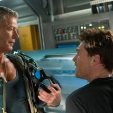 Stephen Lang e Sam Worthington in una sequenza di Avatar