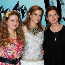 Jessie Cave, Emma Watson e Bonnie Wright, a Londra, per la premiere del film Harry Potter e il Principe Mezzosangue