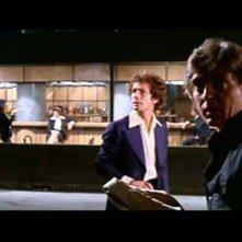 David Hemmings e Gabriele Lavia in una scena del film Profondo Rosso ( 1975 )