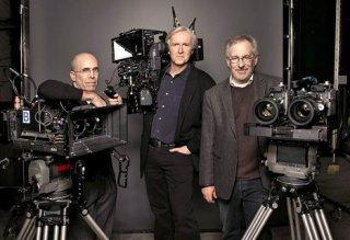 Jeffrey Katzenberg, James Cameron e Steven Spielberg, tre dei maggiori fautori del cinema 3d