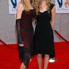 Le elegantissime sorelle Aly & A.J. Michalka alla premiere del film 'Ice Princess - Un sogno sul ghiaccio' nel 2005
