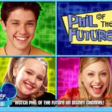 Un wallpaper di Ricky Ullman, Amy Bruckner e Alyson Michalka per la serie di Phil dal futuro