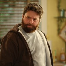 Zach Galifianakis in una scena della nuova serie HBO Bored to Death