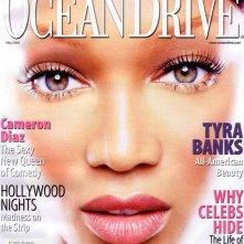 Il bellissimo primo piano di Tyra Banks per la rivista Ocean Drive del 2002