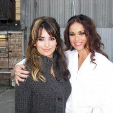Jennifer Iacono sul set di Nine accanto a Penelope Cruz