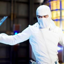 Lee Byung-hun (Storm Shadow) in una sequenza nel film G.I.Joe: La nascita dei Cobra