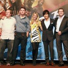 Lorenzo di Bonaventura, Channing Tatum, Sienna Miller, Lee Byung-hun e Stephen Sommers alla premiere del film G.I. Joe The Rise Of Cobra, a Seoul, South Korea - 29 Luglio 2009