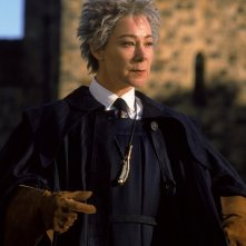Zoe Wanamaker è Madame Hooch in una scena del film Harry Potter and the Sorcerer's Stone