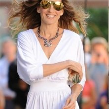 Sarah Jessica Parker sul set di Sex and the City 2