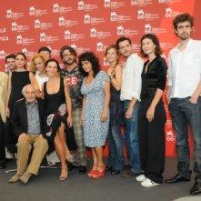 Venezia 2009: il cast de Le Ombre Rosse con il regista, Citto Maselli