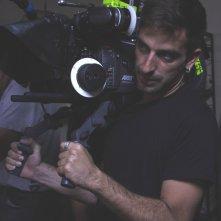 Il regista Claudio Noce sul set del film Good Morning, Aman
