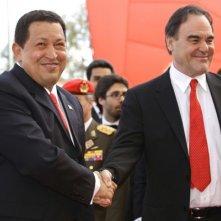 66 Mostra del Cinema di Venezia: il presidente venezuelano Hugo Chavez con Oliver Stone per presentare il film South of The Border