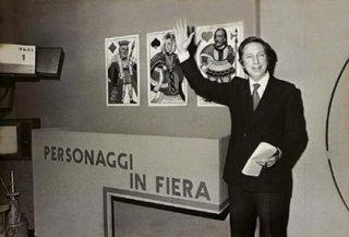 Mike Bongiorno agli inizi della carriera di presentatore