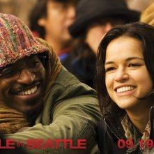 Wallpaper del film Battle in Seattle, con André Benjamin e Michelle Rodriguez