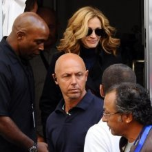 Julia Roberts a Napoli, nel quartiere di Forcella, per le riprese di Eat, Pray, Love.