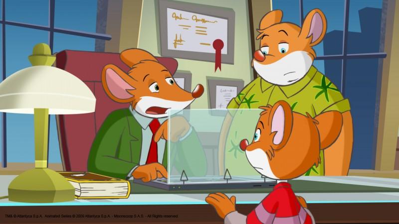 Un'immagine tratta dalla serie animata Geronimo Stilton