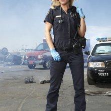Anastasia Griffith è Nancy Carnahan in una foto promozionale della serie TV Trauma