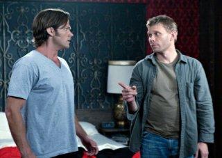 Jared Padalecki e Mark Pellegrino in una scena dell'episodio Free to Be You and Me di Supernatural