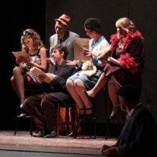 Matilde Dondena insieme al resto del cast di \'Gangster a Broadway\'.
