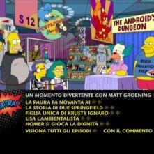 Il menu del primo disco della stagione 12 de I Simpson