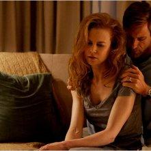 Nicole Kidman e Aaron Eckhart in una scena del film Rabbit Hole, diretto da John Cameron Mitchell