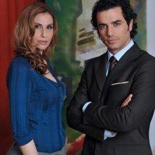 Antonella Troise e Antonio Cupo in una immagine promo di Negli occhi dell\'assassino