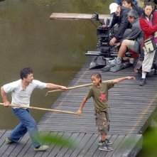 Jaden Smith e Jackie Chan sul set di Kung Fu Kid, remake di Karate Kid