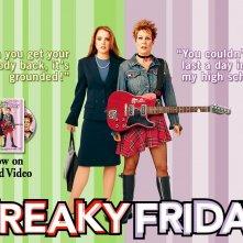 Un wallpaper del film Quel pazzo venerdì, con Jamie Lee Curtis e Lindsay Lohan