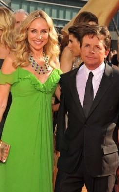 Emmy Awards 2009 Michael J Fox E Sua Moglie Tracy Pollan 131285