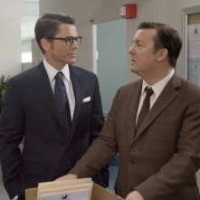 Rob Lowe e Ricky Gervais in una scena del film The Invention of Lying