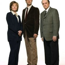 Una foto promo di Jane Curtin, Noah Wyle e Bob Newhart del film The Librarian: Quest for the Spear