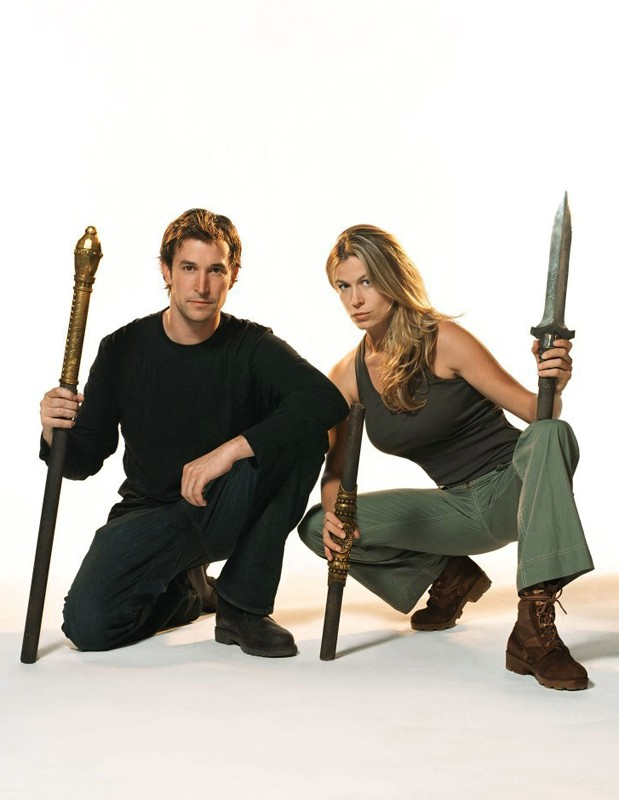 Una Foto Promo Di Noah Wyle E Sonya Walger Per Il Film The Librarian Quest For The Spear 131410