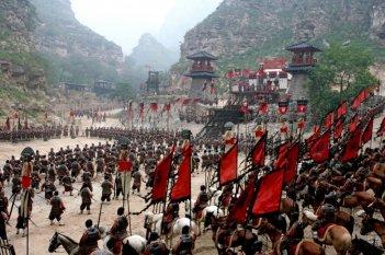 Una scena del film La battaglia dei tre regni