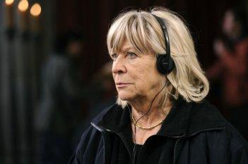 Margarethe von Trotta sul set di Vision