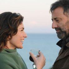 Anna Valle e Luca Barbareschi in una sequenza della terza stagione della serie tv Nebbie e delitti