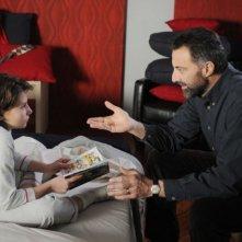 Celeste Cuppone e Luca Barbareschi in un'immagine della terza stagione della serie tv Nebbie e delitti