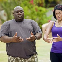 Faizon Love e Kali Hawk nel film L'isola delle coppie