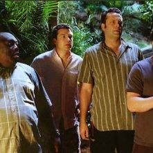 Faizon Love, Jason Bateman, Vince Vaughn e Jon Favreau nel film L'isola delle coppie (Couples Retreat, 2009)