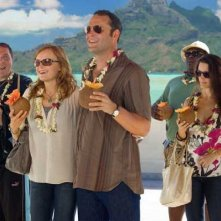 Jon Favreau, Malin Akerman, Vince Vaughn, Kristin Davis e Faizon Love nel film L'isola delle coppie (Couples Retreat, 2009)