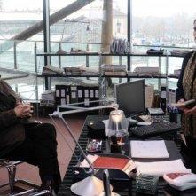 Luca Barbareschi e Rosa Pianeta in un'immagine della terza stagione della serie tv Nebbie e delitti
