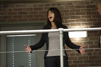 Robin Tunney in una scena dell'episodio Red Badge di The Mentalist