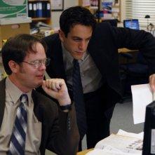 B.J. Novak e Rainn Wilson nell'episodio Gossip della serie The Office
